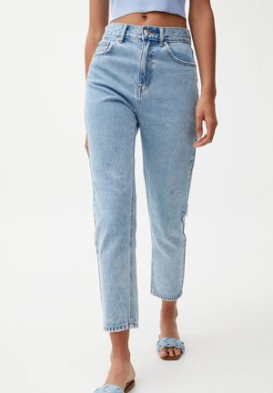 MOM - Relaxed fit jeans - mottled light blue