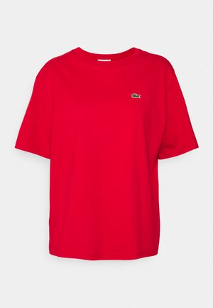 Jednoduché triko - rouge