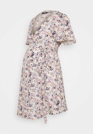 MATERNITY TIE FRONT DRESS - Vestido informal - lilac