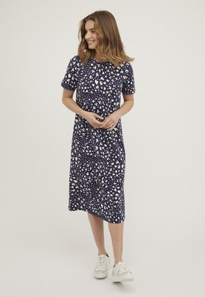 MIDI - Day dress - bleu marine