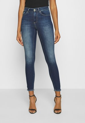 ONLBLUSH LIFE - Jeansy Skinny Fit - dark blue denim