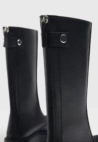 Bershka - Wedge boots - black - 5
