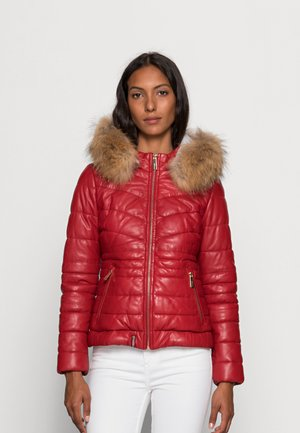 JAMY - Leather jacket - fire