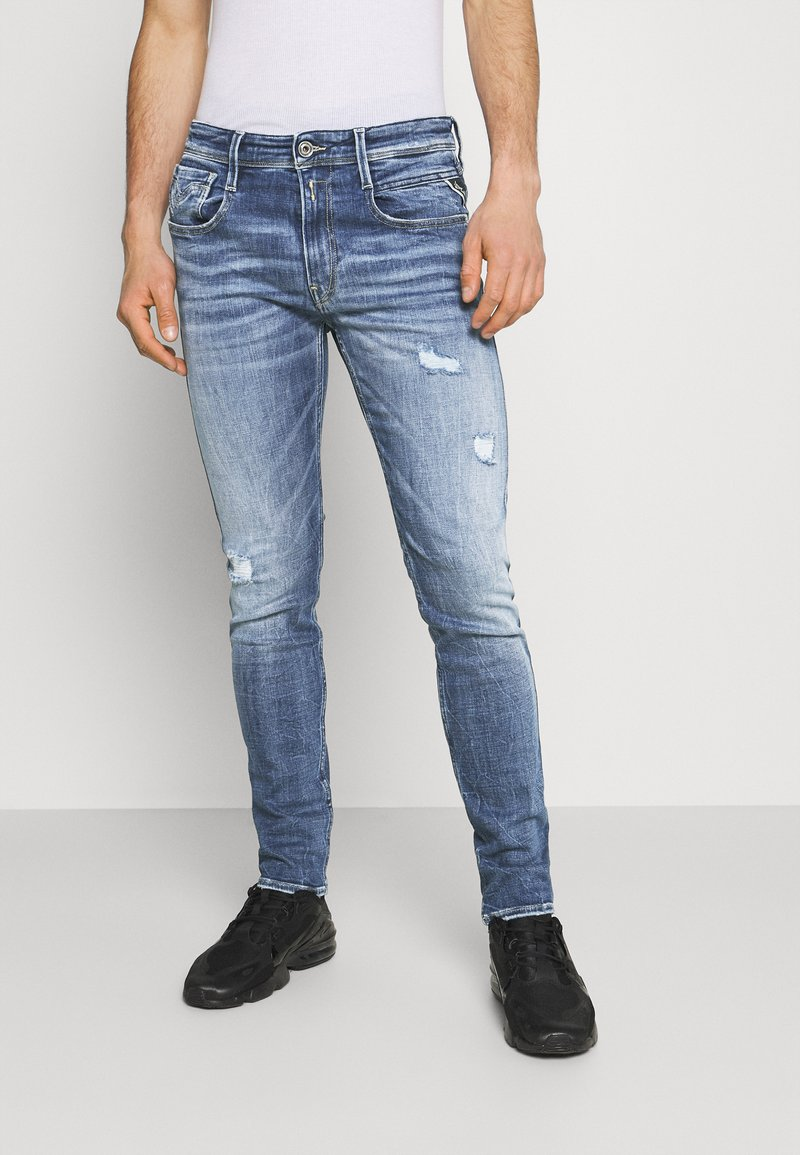 Replay - ANBASS AGED - Jeans Skinny Fit - medium blue