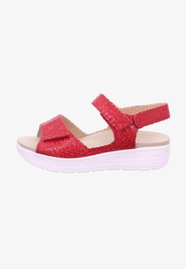 GRETA - Platform sandals - red