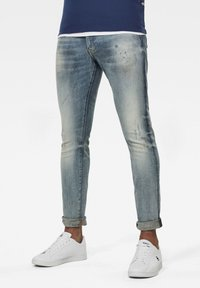 G-Star - REVEND SKINNY - Jeans Skinny Fit - antic faded lapo blue destroyed - 0