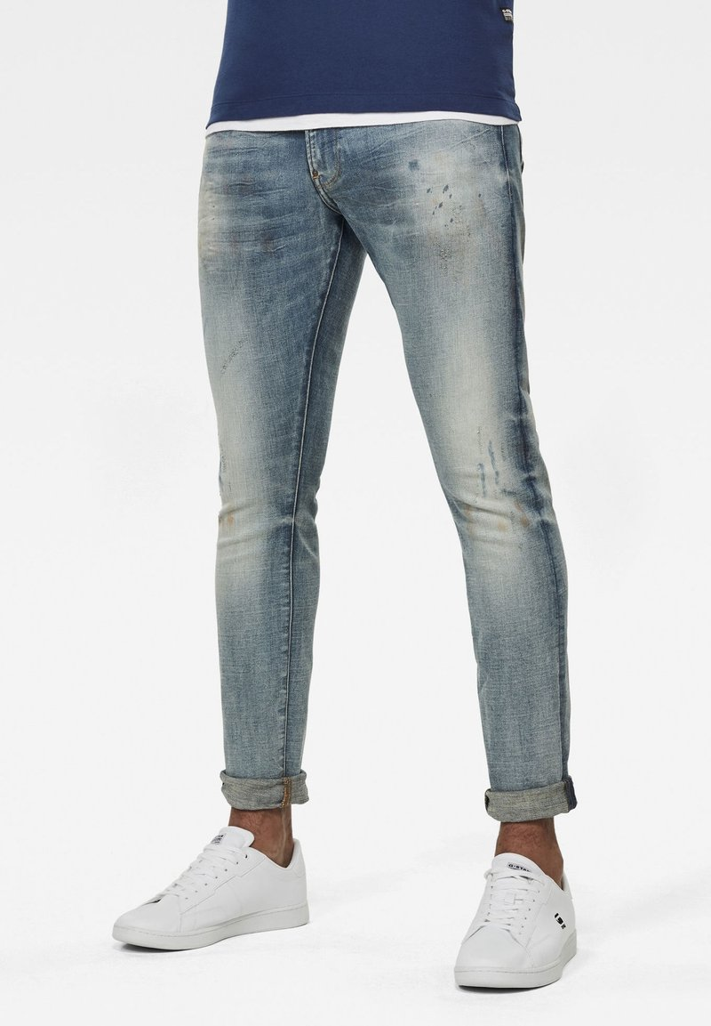 G-Star - REVEND SKINNY - Jeans Skinny Fit - antic faded lapo blue destroyed