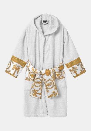 BATH UNISEX - Dressing gown - white/gold