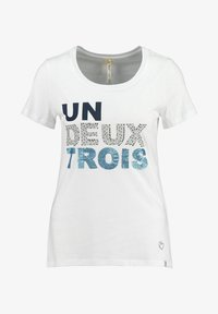 Key Largo - WT NUMBER ROUND - Print T-shirt - white - 0