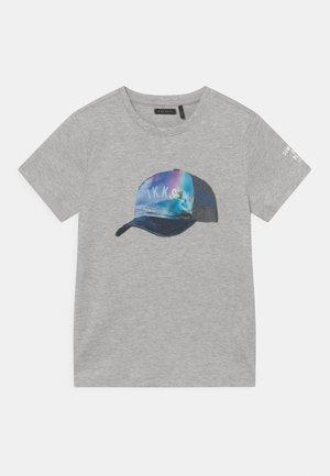 Print T-shirt - gris