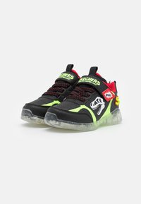 Skechers - ILLUMI-BRIGHTS - Trainers - black/lime//red - 1