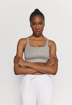 ACTIVE - Medium support sports bra - allover logo grey