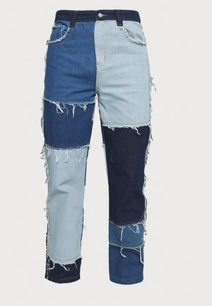 PATCHWORK SKATE - Straight leg jeans - blue
