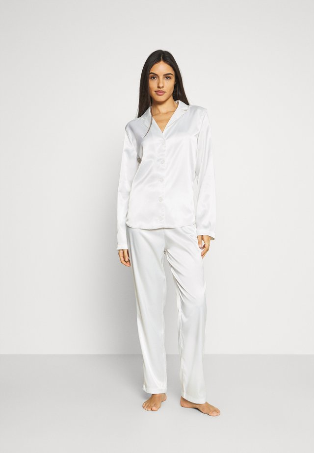 SKYE PANT AND SHIRT - Pyjama - white