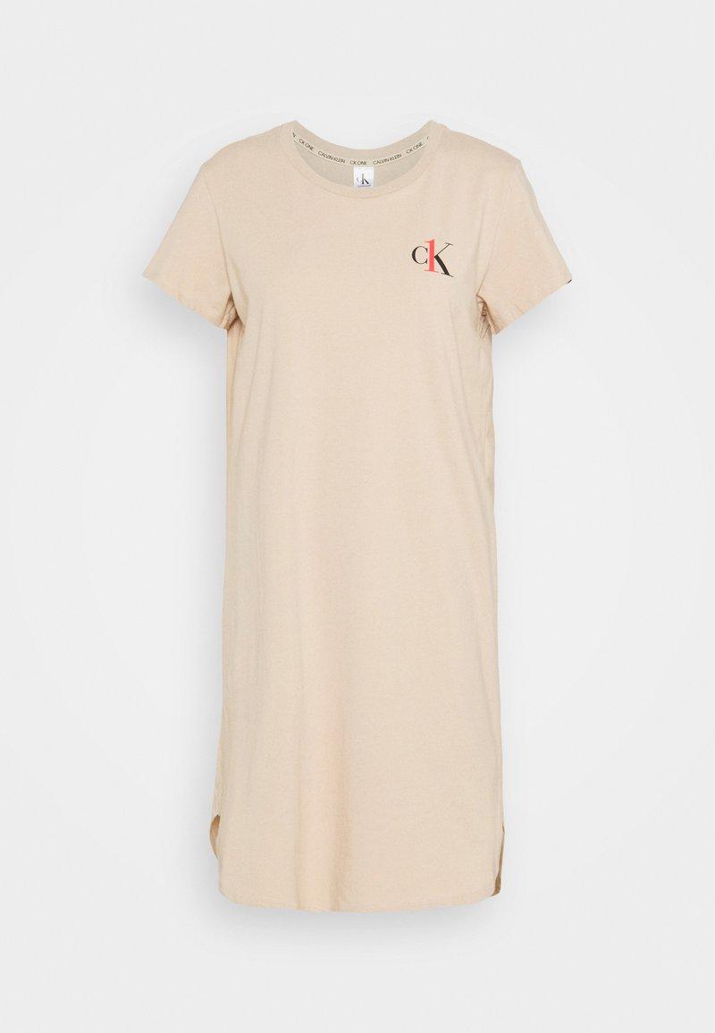 Calvin Klein Underwear - LOUNGE NIGHTSHIRT - Koszula nocna - beige