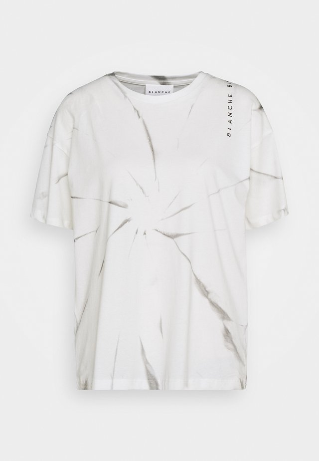 MAINTIE DYE - T-shirt imprimé - ecru
