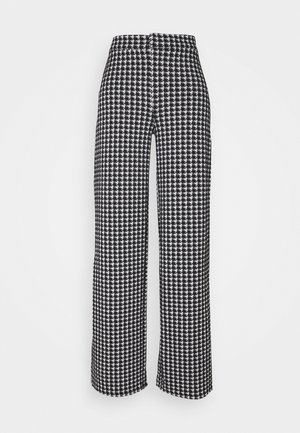 NMHOUND PANT - Trousers - black/white