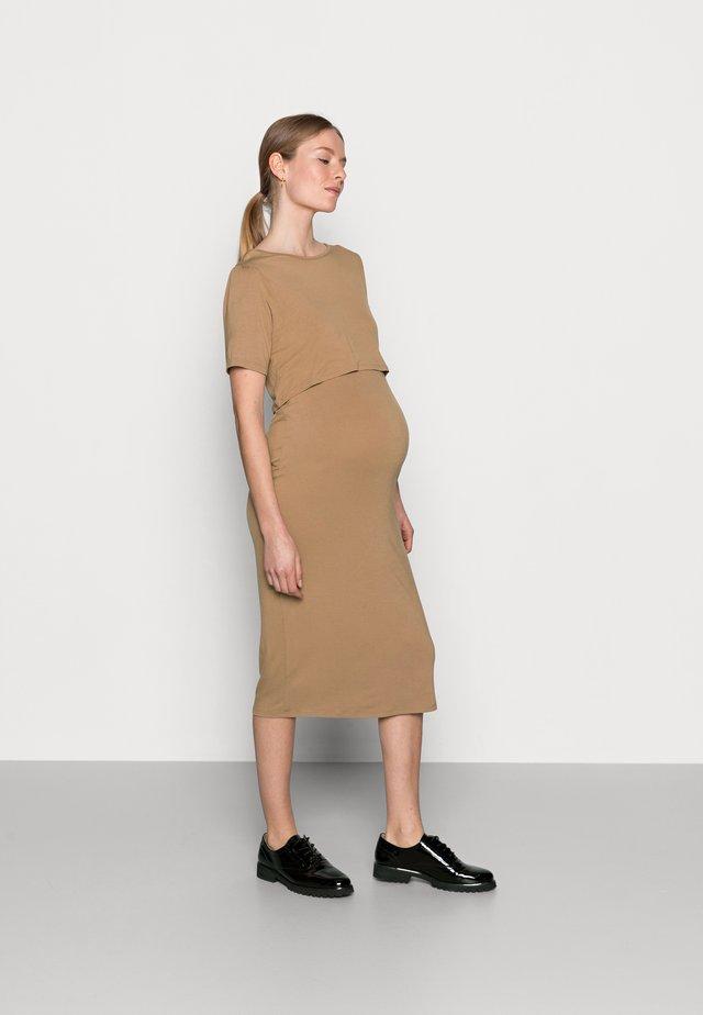 NURSING DRESS - Sukienka z dżerseju - brown