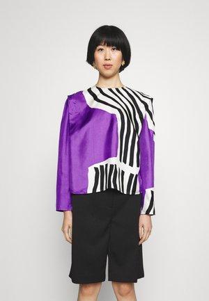 HUMISEE VUOLU SHIRT - Blouse - violet/offwhite/black