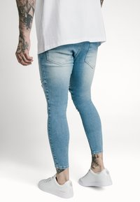 SIKSILK - DISTRESSED SUPER  - Skinny džíny - light-blue denim - 4