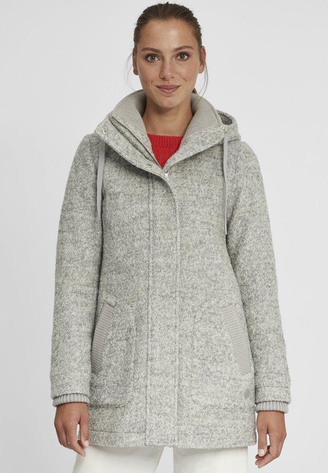 RIEKE - Halflange jas - light grey melange