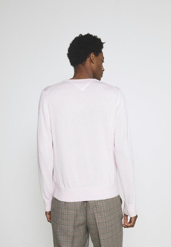 Tommy Hilfiger V NECK - Sweter - light pink/rÓżowy Odzież Męska UFMC