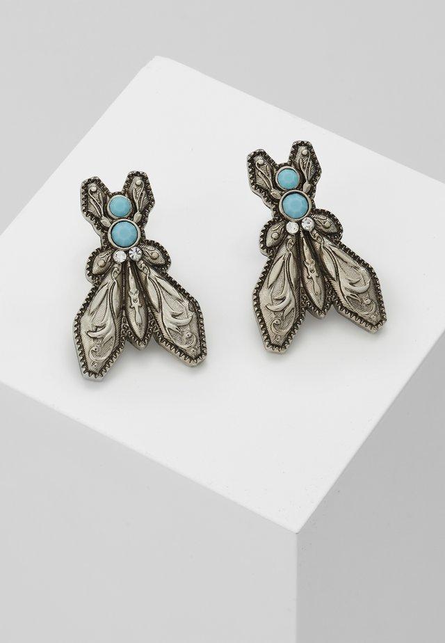 ORECCHINI FLY - Orecchini - turquoise/silvercoloured