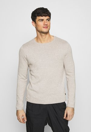 ALDO - Strikpullover /Striktrøjer - light grey melange/cloud dancer