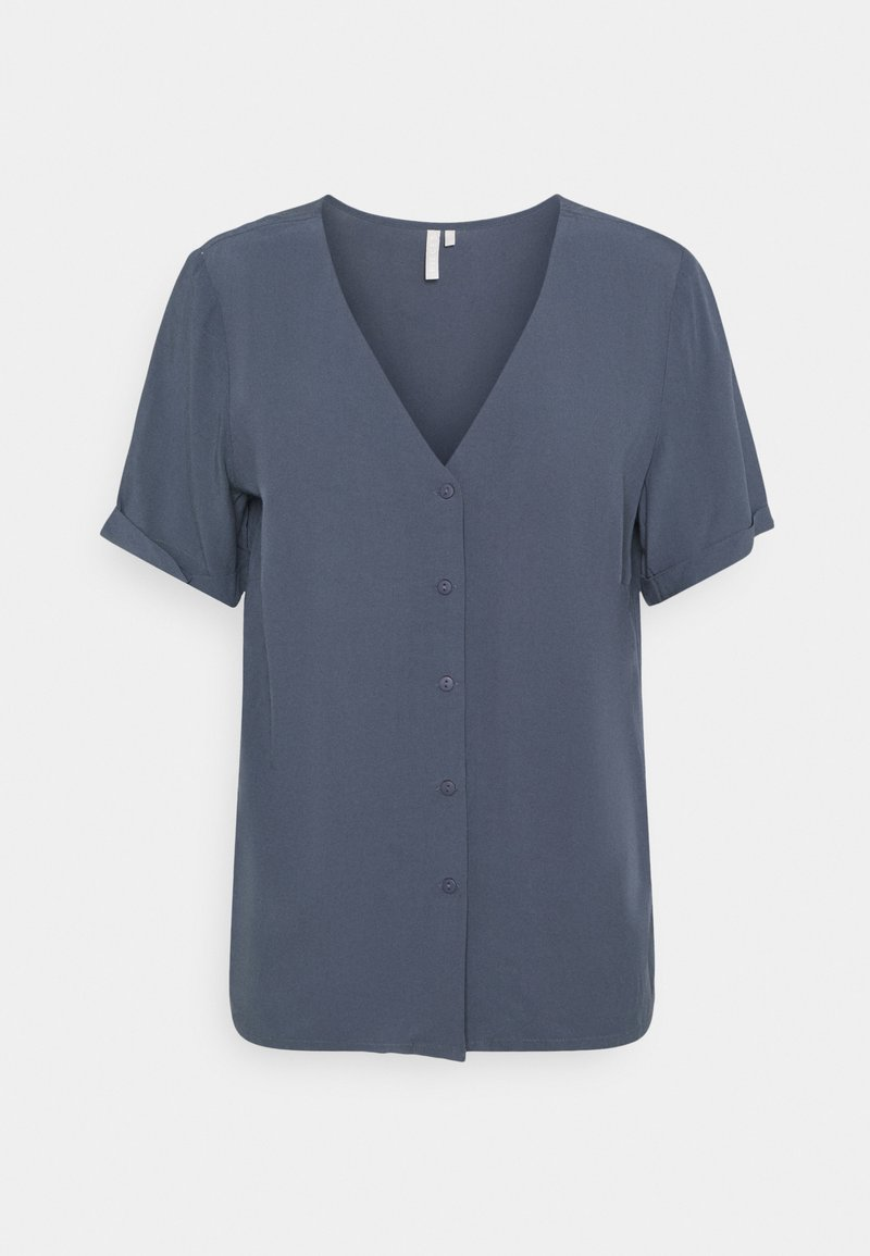 Pieces - PCCECILIE JERSEY SHORT SLEEVES - Blůza - ombre blue