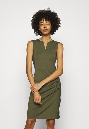 Robe fourreau - khaki
