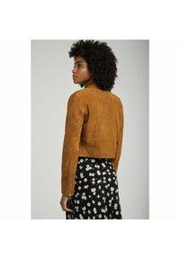 NAF NAF - Leather jacket - beige - 2