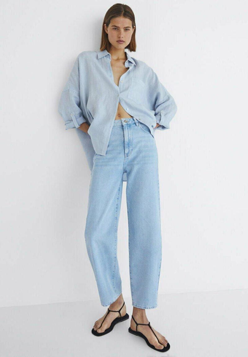 Massimo Dutti - Jeansy Straight Leg - blue