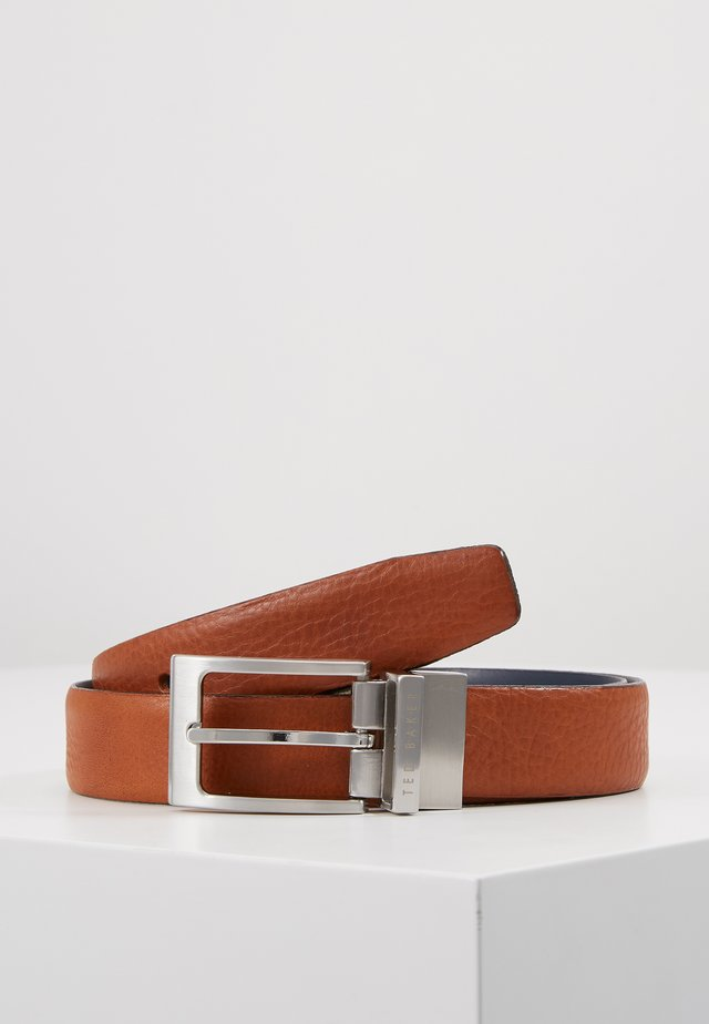 KARMER REVERSIBLE BELT - Bælter - tan