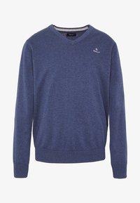 CLASSIC COTTON V-NECK - Sweter - dark jeansblue melange