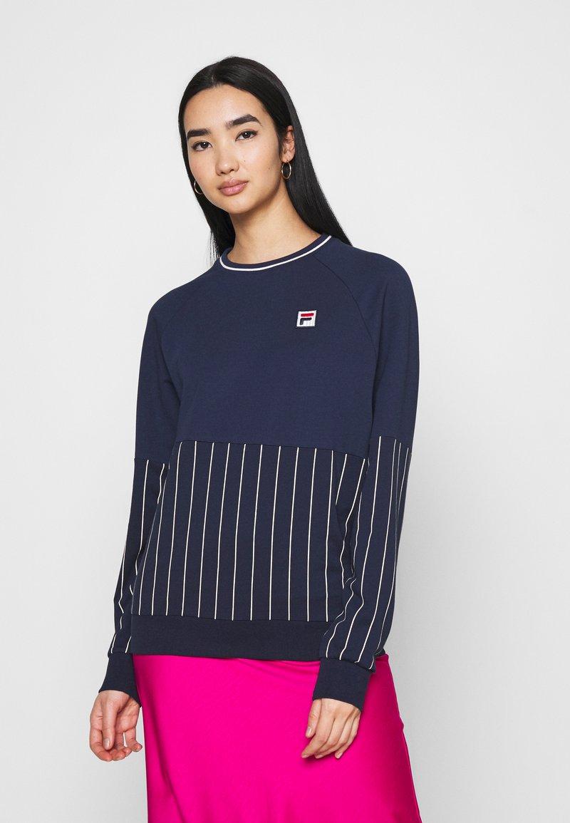 Fila - HELAINE CREW NECK  - Sweatshirt - black iris