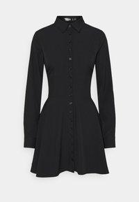 Missguided - BUTTON DOWN SKATER DRESS - Shirt dress - black - 3