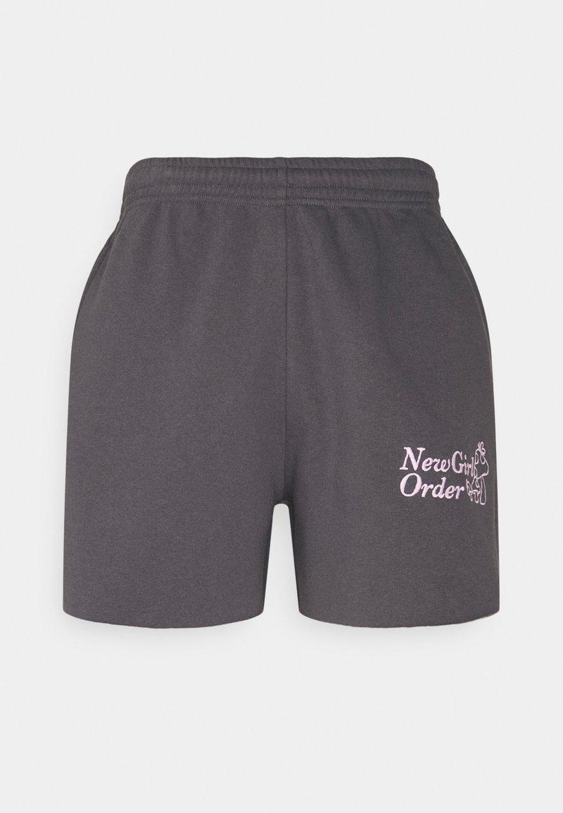 NEW girl ORDER - MUSHROOM - Shorts - charcoal