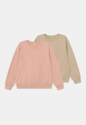 2 PACK UNISEX - Sweater - tan/light pink