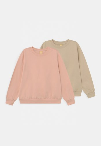 2 PACK UNISEX - Felpa - tan/light pink