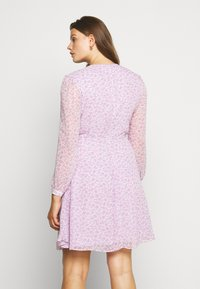 Glamorous Curve - SHEER LONGSLEEVE DRESS - Korte jurk - lilac lavender - 2