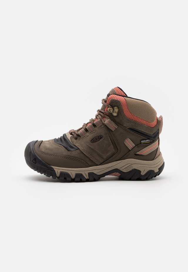 RIDGE FLEX MID WP - Hikingskor - timberwolf/brick dust