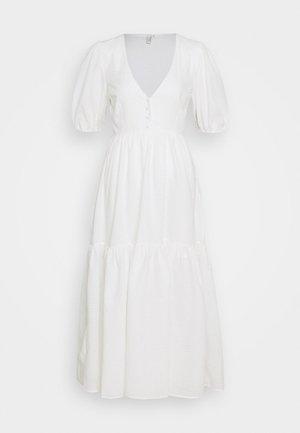 FLOWY BUTTON DRESS - Maxi dress - white