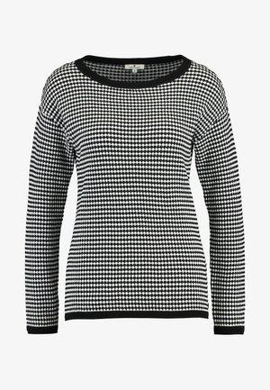 STRUCTURED - Svetr - white/black