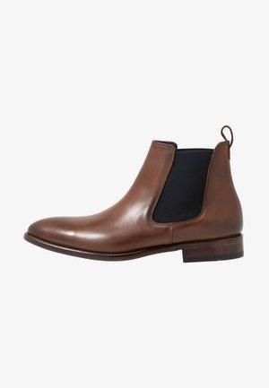 Kotníkové boty - natur tan/blue