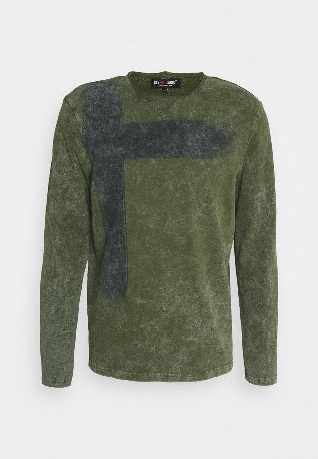 BOB ROUND - T-shirt à manches longues - olive