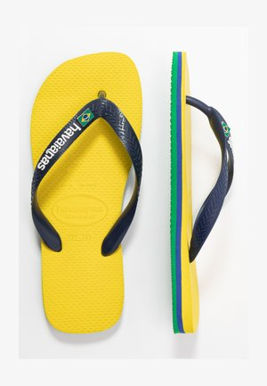 BRASIL LAYERS UNISEX - Tongs - citrus yellow