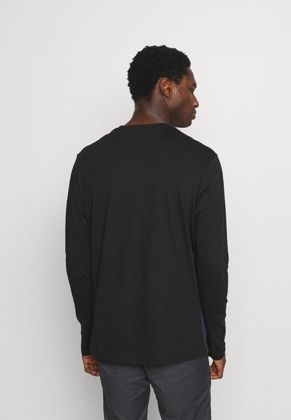 Pier One Bluzka z długim rękawem - black/czarny Odzież Męska DBWU