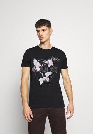 AVELLINO - Print T-shirt - black