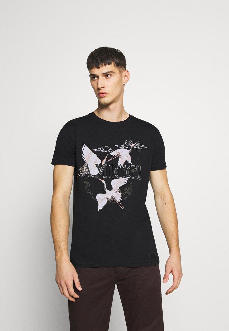 AMICCI - AVELLINO - Print T-shirt - black