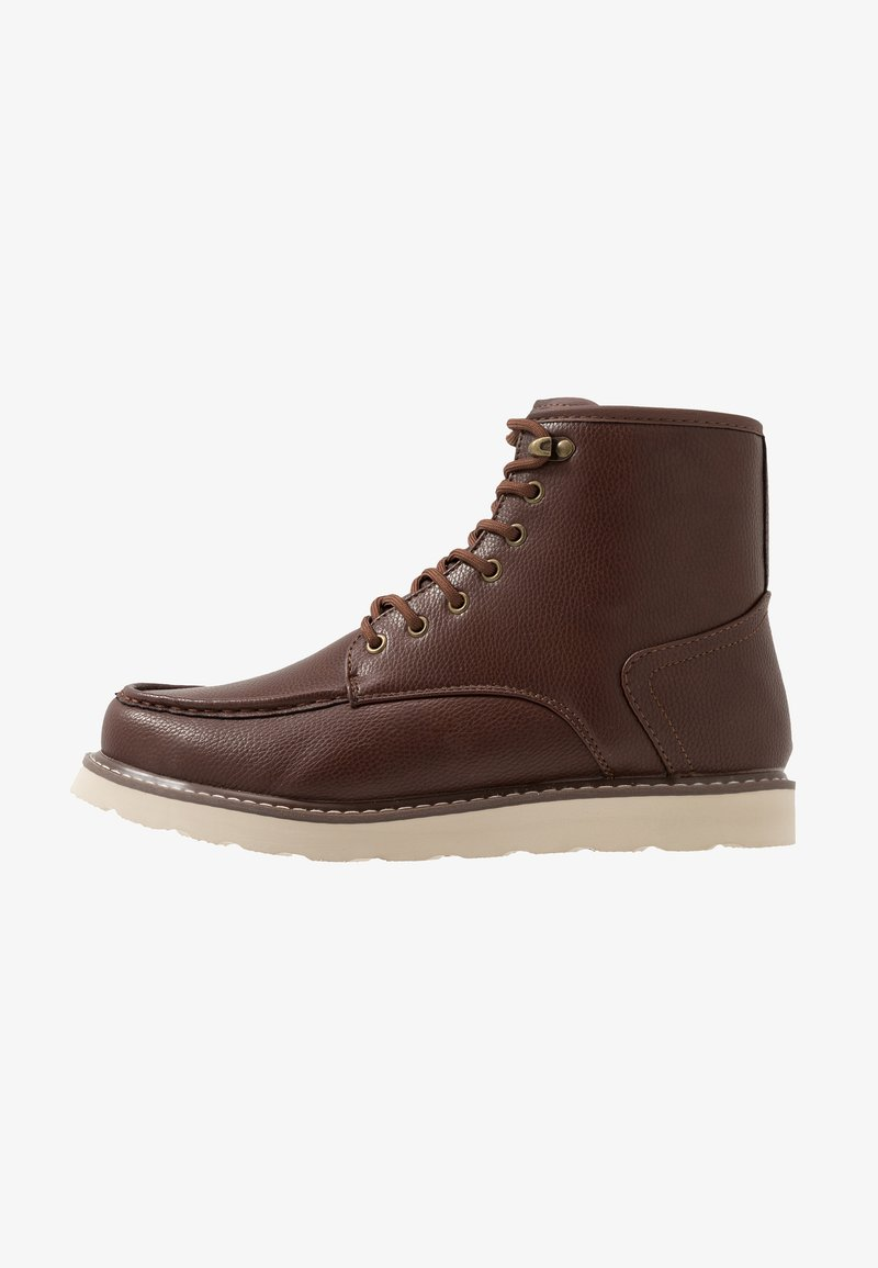 New Look - 75 HIKER BOOT - Bottines à lacets - dark brown